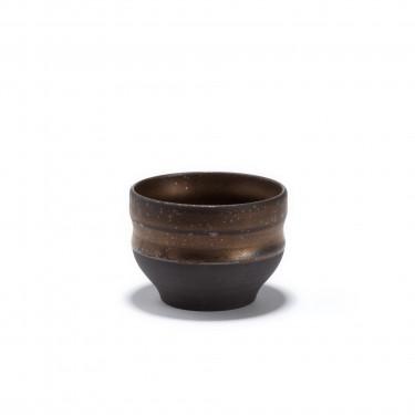 CHIKYU - Bol à thé en grès - patine bronze