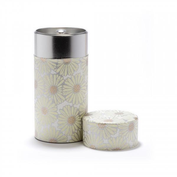 MARGUERITE BEIGE-  - Boîte à thé Washi 150g