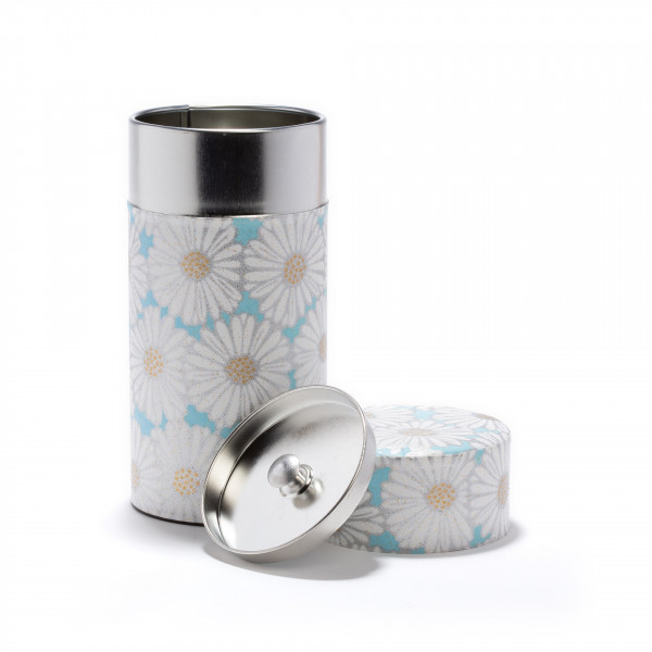MARGUERITE BLUE - Boîte à thé Washi 150g