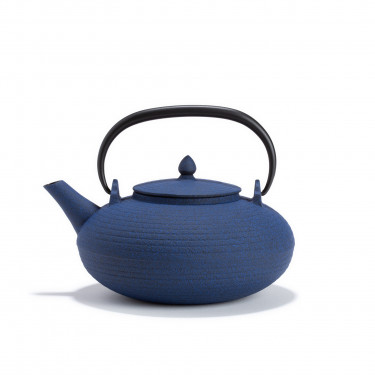 Japanese cast iron teapot - ITOME 0.70L Blue