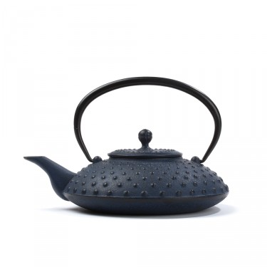 Japanese cast iron teapot - Kanbin 0,7 L - blue