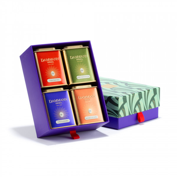 """""""WONDERFUL CHRISTMAS"""" gift set - 3 assorted teas and 1 rooibos in gift set"""