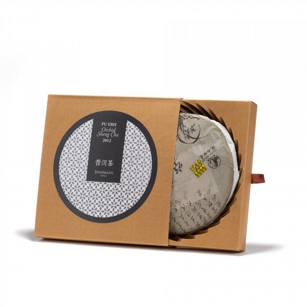 Tea from China - PU ERH ORCHID SHENG CHA  2012- Cake 357G