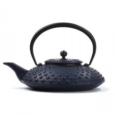 Japanese cast iron teapot - Kanbin 1,2 L - blue