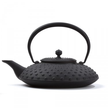 Japanese cast iron teapot - Kanbin 1,2 L - black
