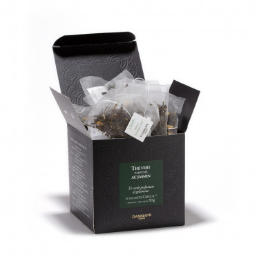 Green jasmine tea, box of 25 Cristal® sachets