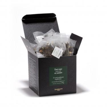 Green jasmine tea, box of 25 Cristal® sachets