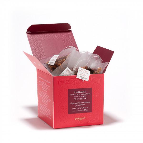 Fruit Infusion - 'Carcadet Nuit d'Eté', box of 20 Cristal® sachets