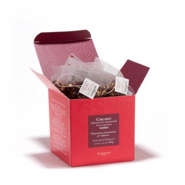 Fruit infusion- Carcadet Samba, box of 20 Cristal® sachets