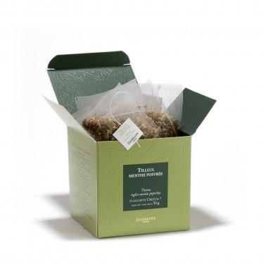 Tilleul-menthe poivrée, 25 sachets