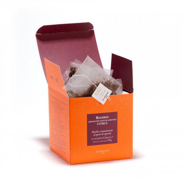 Rooibos Citrus, box of 25 Cristal® sachets