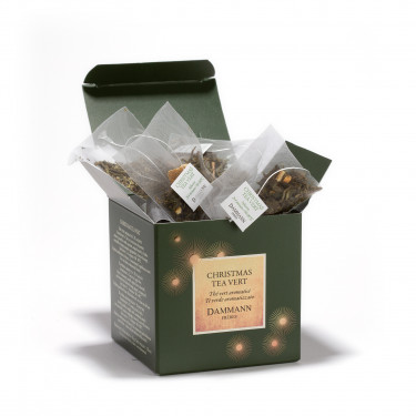 Christmas Tea Vert, box of 25 Cristal® sachets