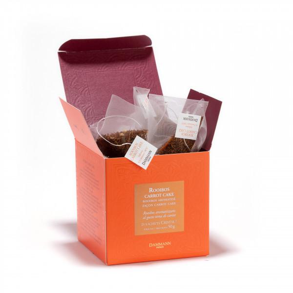 Rooibos Carrot cake, box of 25 Cristal® sachets