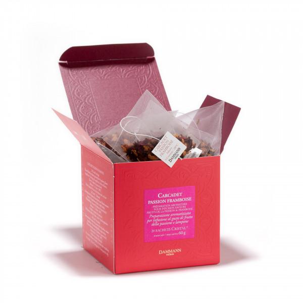 Fruit Infusion - 'PASSION FRAMBOISE', box of 20 Cristal® sachets