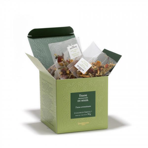 Herbal tea - Tisane du Soleil, box of 25 Cristal® sachets