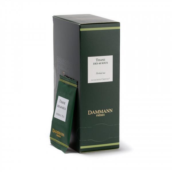 Tisane des 40 Sous, box of 24 enveloped Cristal® sachets