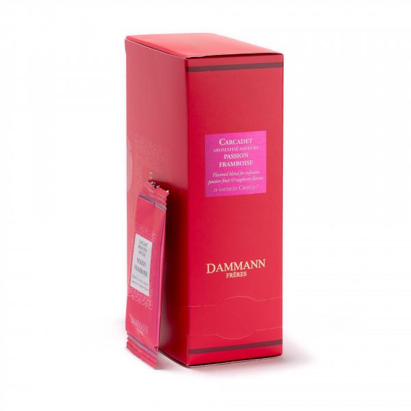 FRUIT INFUSION - CARCADET PASSION FRAMBOISE, box of 24 enveloped Cristal® sachets