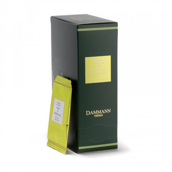 Herbal tea - Tisane Nuit à Versailles, box of 24 enveloped Cristal® sachets