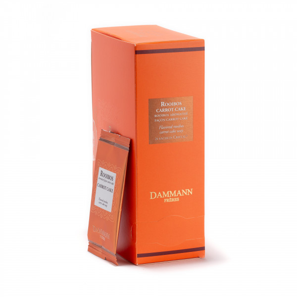 Rooibos carrot cake, box of 24 enveloped Cristal® sachets