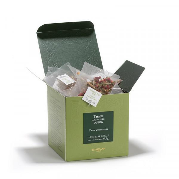 Herbal tea - Tisane du Roy, box of 25 Cristal® sachets