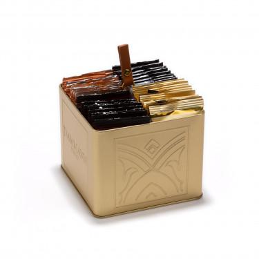 """INFINIMENT"" gift set - golden holder of 32 assorted tea bags"