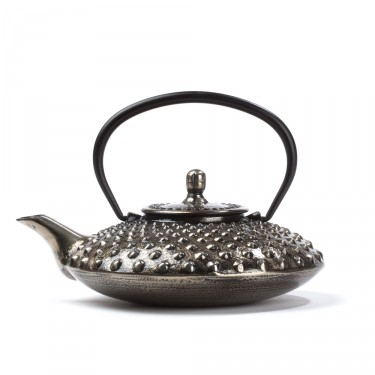 Chinese cast iron teapot - Lotus 0,7 L - silver