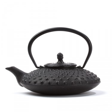 Chinese cast iron teapot - Lotus 0,7 L - black