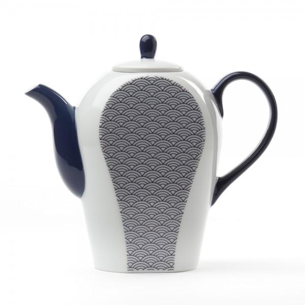 Théière Porcelaine - Auteuil 0,8 L - Bleue