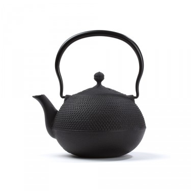 Japanese cast iron teapot - Natsume 0,75 L - black
