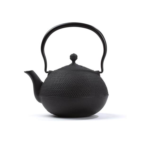 Japanese cast iron teapot - Natsume 0,75 L - black