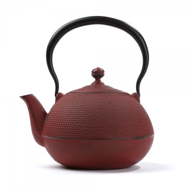 Japanese cast iron teapot - Natsume 1,2 L - red
