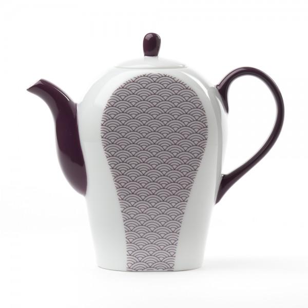Porcelain teapot - Auteuil 0,8 L - purple pattern