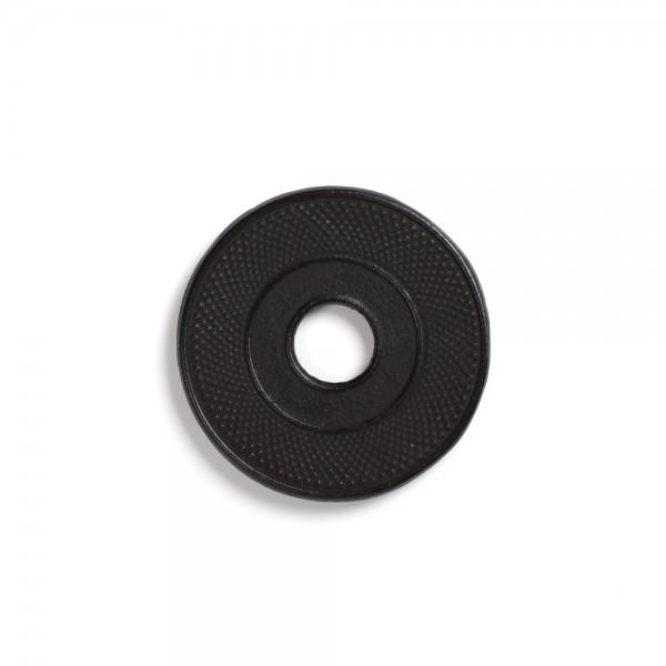 Black cast iron teapot mat