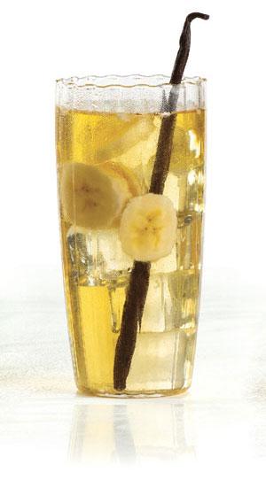 eau parfumé thé glacé pêche, cerise, banane et vanille